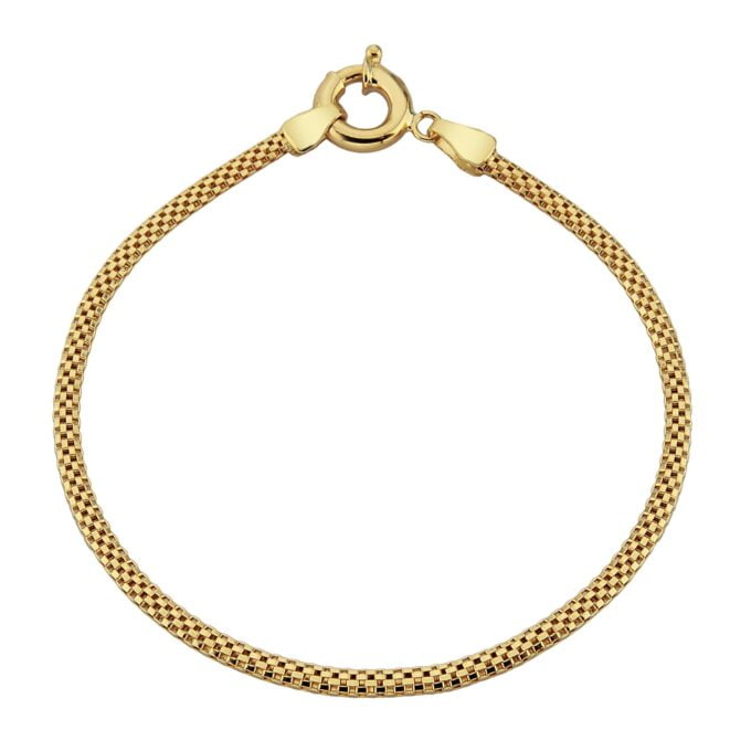 14K Gold Herringbone Chain Link Bracelet Charm Dainty for Women 3 mm X 1.40 mm birthday gift for her mother christmas xmas handmade jewelry yellow white
