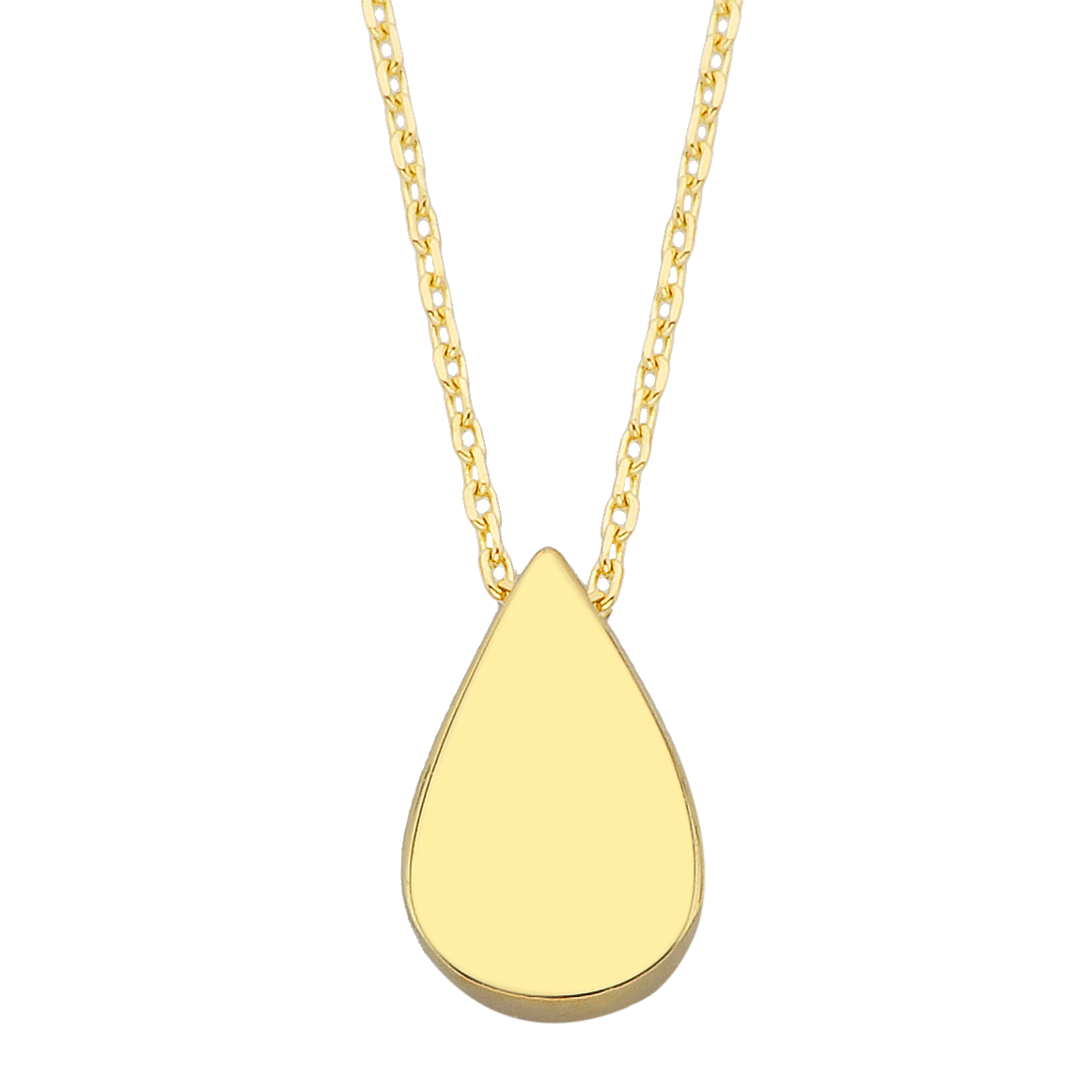 14K Real Solid Gold Teardrop Necklace for Women Girlfriend Mom Her Best Birthday Christmas Gift Tiny Dainty Charm Gold Pendant Chain jewelry