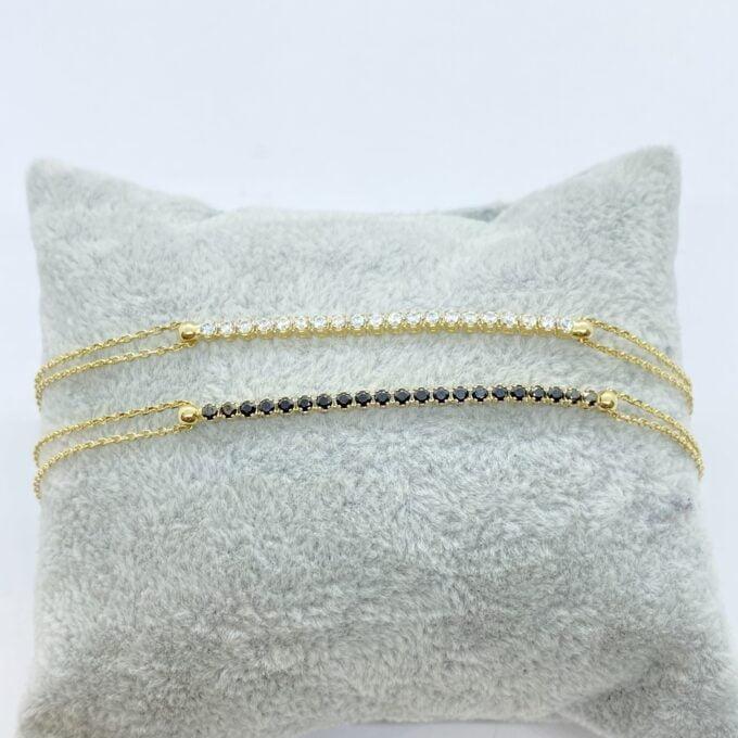 14K Real Solid Gold Tennis Bracelet for Women   CZ Tennis Bracelet christmas gift