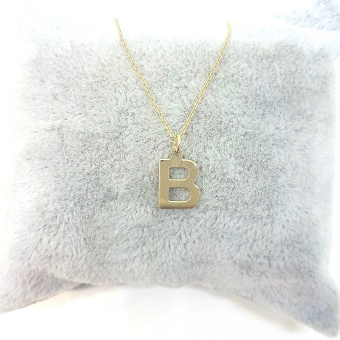 14K Real Solid Gold Initial Alphabet Letter Name Charm Cute Dainty Delicate Elegant Trendy Pendant Necklace Best Birthday Gift for Women Jewelry Mother Girlfriend Teen Girl
