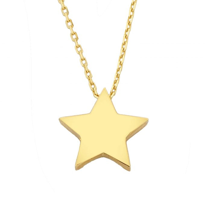 14K real Solid gold star necklace gold tiny star of david jewelry dainty birthday gift christmas mother's for women girl
