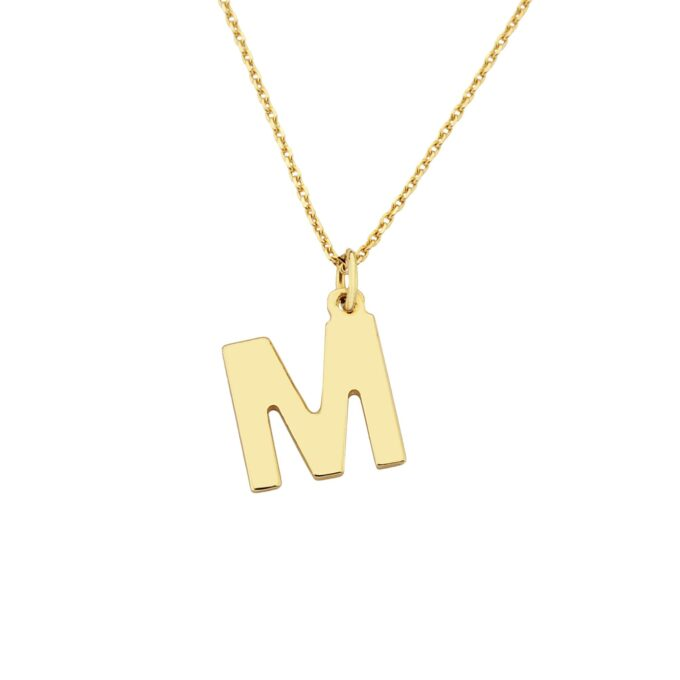 14K solid gold initial necklace for women,christmas day gift, gift for her