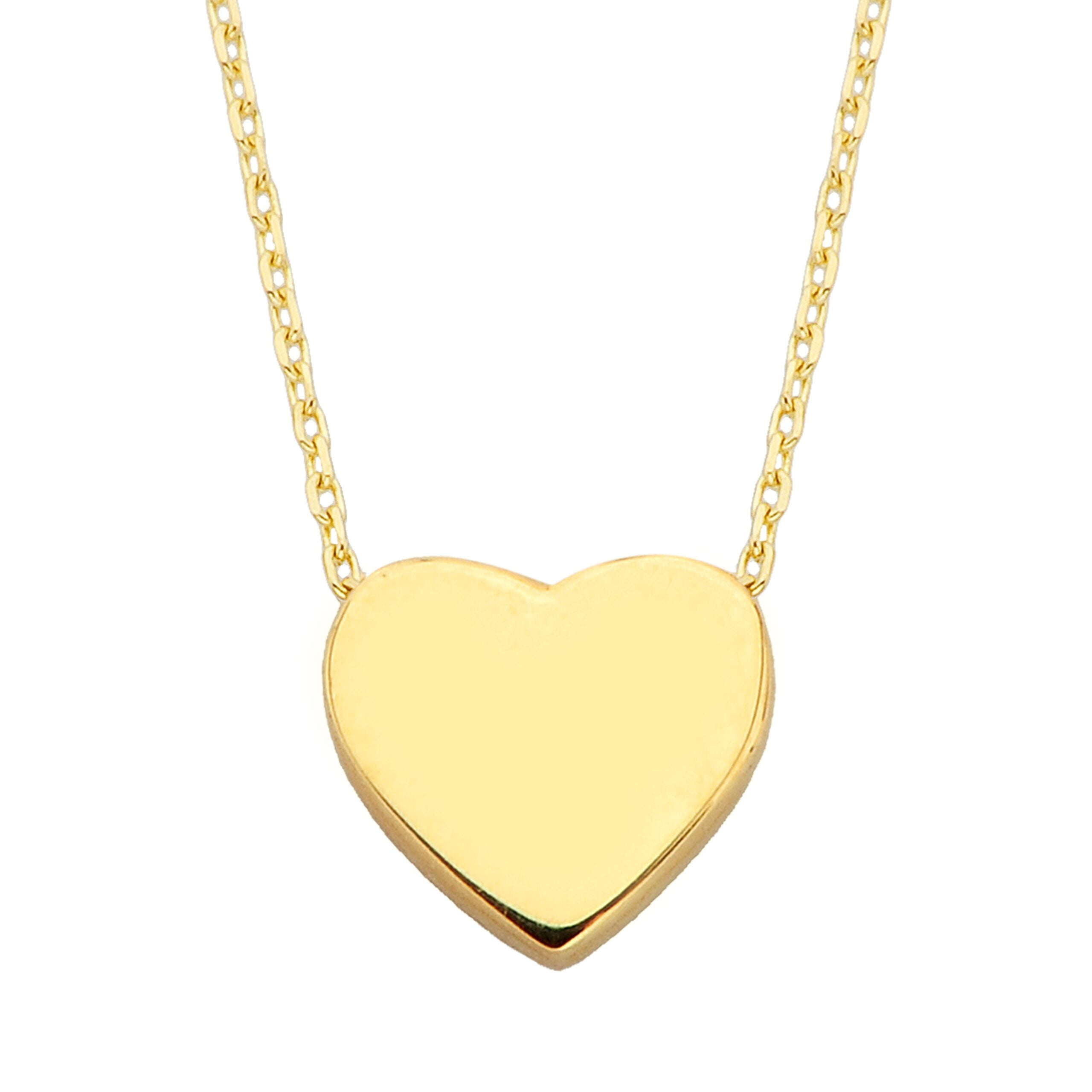 14k Real Solid Gold Dainty Tiny Heart Pendant Chain Necklace for Women and Girls Birthday Christmas Mother's Day Gift jewelry Love