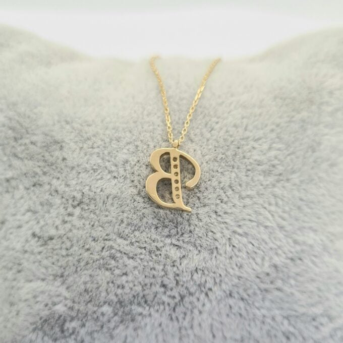 CZ Letter Necklace , CZ initial Necklace , 14K Solid Gold CZ Micro Pave Alphabet Letter Initial Charm Necklace for Women , Birthday Gift