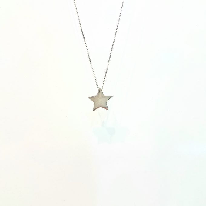 14K Real Solid Gold Star Pendant Necklace Cute Tiny Dainty Charm Delicate Trendy for Women Jewelry Girlfriend mom Best Birthday Gift