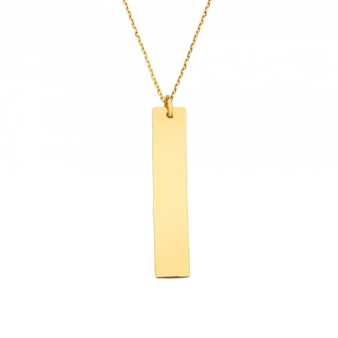 14K Solid Gold Vertical Coordinate Bar Personalized Custom Name Y Chain Necklace for Women   Birthday Christmas Mother's Day Gift