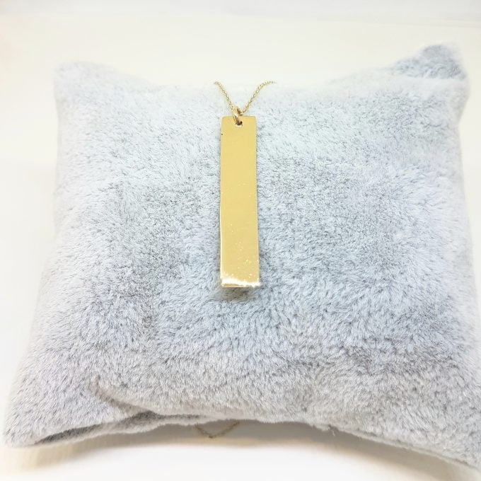14K Real Gold Vertical Coordinate Bar Memorial Personalized Forever Remember Names Dates Cute Charm Delicate Initial Dainty Trendy Pendant Necklace best birthday gift for Women Jewelry girlfriend mom