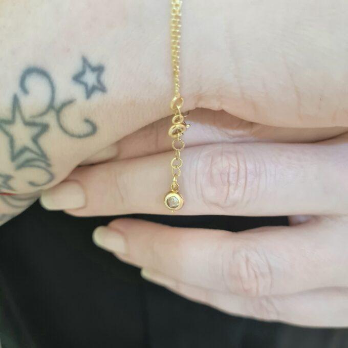 14K real Solid gold CZ Micro Pave Oval Shape Bracelet for Women , Cubic Zirconia Oval Bracelet , Minimalist Bracelet , Gift for Her , Gold Oval Bracelet