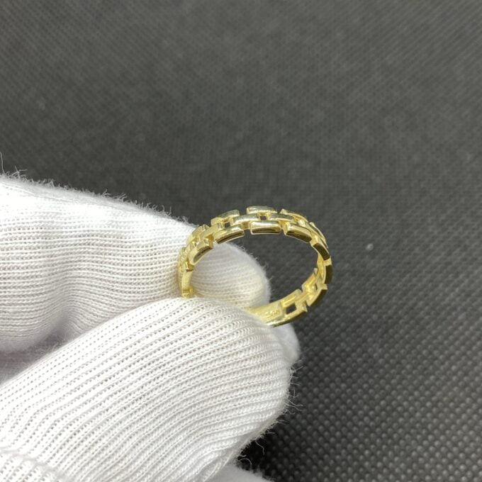 14K Real Solid Gold Stackable Thick Band Ring for Women , christmas gifts