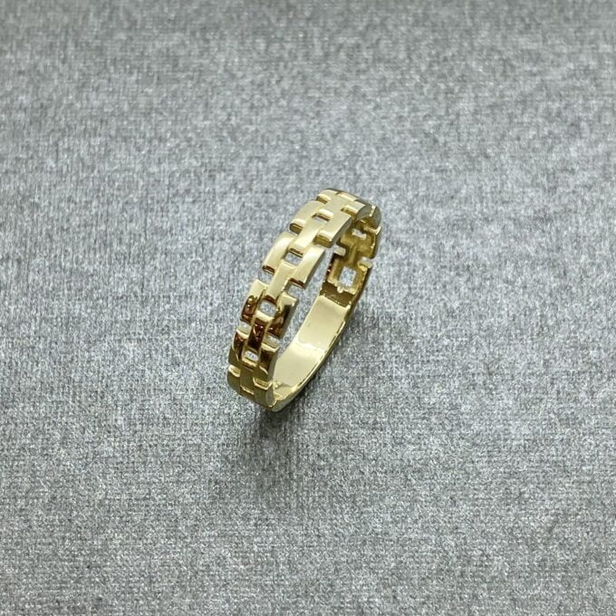 14K Real Solid Gold Stackable Thick Band Ring for Women, dainty ring gold
