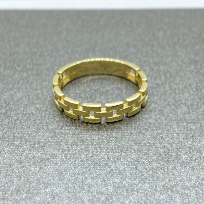 14K Real Solid Gold Stackable Thick Band Ring for Women, simple dainty ring gold