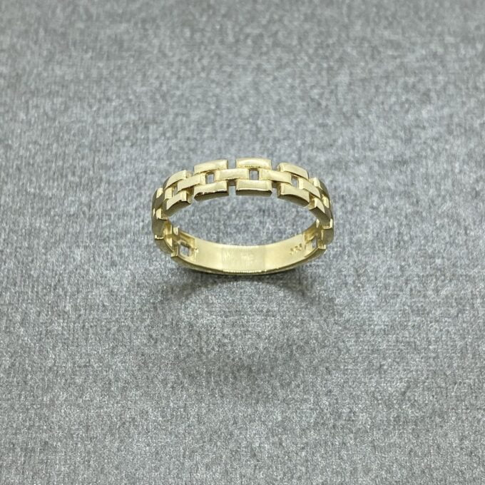 14K Real Solid Gold Stackable Thick Band Ring for Women, women's ring
