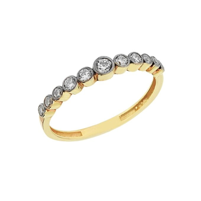 Dainty CZ Stacking Ring, 14K Real Solid Gold CZ Ring for Women ,14K Gold Stackable Ring ,Gold Minimalist Ring, CZ Ring ,Cubic Zirconia Ring, gift for her