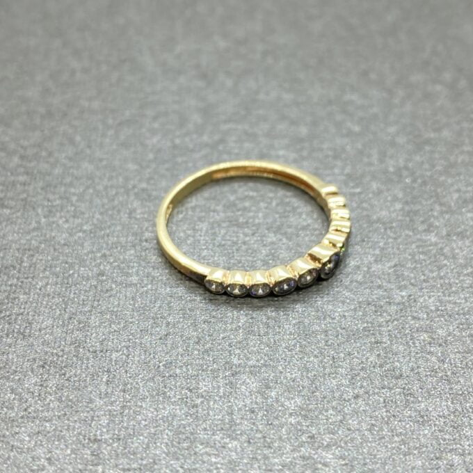 Dainty CZ Stacking Ring, 14K Real Solid Gold CZ Ring for Women ,14K Gold Stackable Ring ,christmas gift, CZ Ring ,Cubic Zirconia Ring